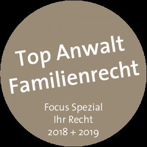 Rechtsanwalt Dr. Peter Becker aus Münster ist Top Anwalt in Familienrecht Focus Spezial Ihr Recht 2018 + 2019